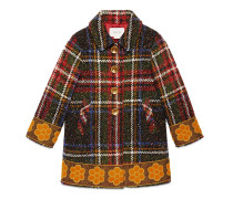 Kinder Mantel aus Wolle und Seide mit Schottenkaro
