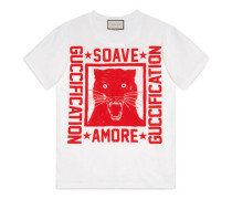 """T-Shirt mit """"Soave Amore Guccification""""-Print"""