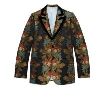 Heritage Jacke aus Kletterblumen-Jacquard