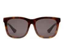 Sonnenbrille mit quadratischem Rahmen aus Azetat