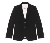Jacke aus elastischem Wolle-Seiden-Stoff