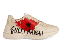 "Rhyton Damen-Sneaker mit ""Gucci Hawaii""-Print"