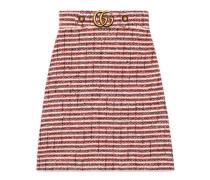 Rock aus gestreiftem Tweed