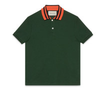 Poloshirt aus Baumwolle mit Schlangenapplikation