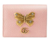 Kartenetui aus Leder mit Schmetterling