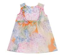Baby Kleid aus Seide mit Hortensien-Print