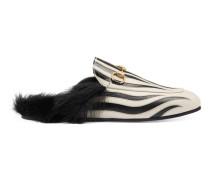 Slipper Princetown mit Zebramuster
