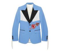 Jacke mit Stickerei und Fransen