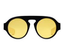Sonnenbrille mit rundem Rahmen aus Acetat