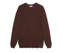 Oversize-Pullover aus Wollrippstrick