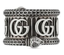 Ring aus Silber mit Doppel G