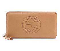 Brieftasche mit Rundumreißverschluss Soho aus Leder
