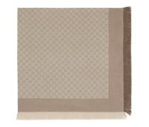 Sandfarbenes und hellbraunes Halstuch mit GG Muster