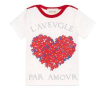 Baby T-Shirt mit Korsage-Print mit Herz
