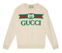 Übergroßer Pullover mit Logo