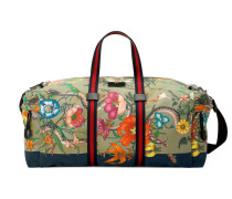 Reisetasche mit Flora Snake-Print
