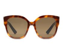 Square-frame acetate sunglasses with Web