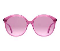 Sonnenbrille mit rundem Rahmen aus Acetat und spezieller Passform