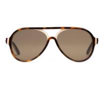 Pilotensonnenbrille aus mehrschichtigem Acetat