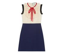 Kleid aus kontrastierender Seide und Wolle