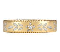 Icon Ring aus Gelbgold mit Diamant