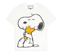 T-Shirt aus gewaschenem Stoff mit Peanuts-Print