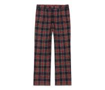Weiche Hose im Pyjama-Stil mit Schottenkaro