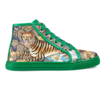 Kinder High-Top Sneaker mit GG und Feline-Print