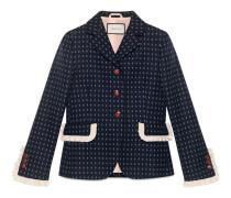 Jacke aus Wolle mit geometrischem Muster