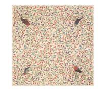 Halstuch aus Modal und Baumwolle mit Raubvogel-Print