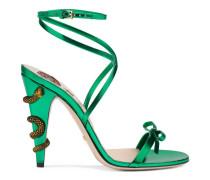 Sandale aus Leder mit Überkreuz-Design
