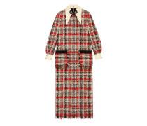 Kleid aus mehrfarbigem Tweed mit Stickerei