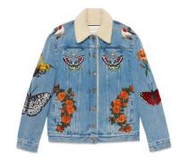 Jacke aus Jeans mit Stickerei