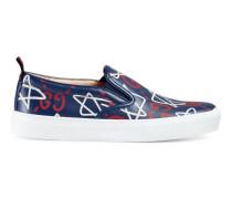 Slip-on-Sneaker aus Leder mit GucciGhost-Print