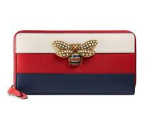 Queen Margeret Brieftasche mit Rundumreißverschluss aus Leder