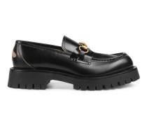 Loafer aus Leder mit Horsebit und Profilsohle