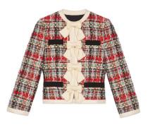 Jacke aus mehrfarbigem Tweed mit Schößchen