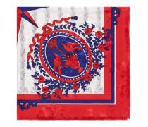 Schal aus Seide mit Glockenspiel-Print