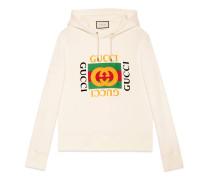 Pullover aus Baumwolle mit Gucci logo