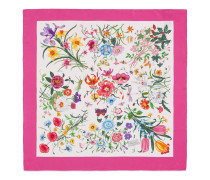 Halstuch mit Blumendruck aus Seidentwill