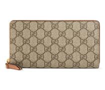 Brieftasche mit Rundumreißverschluss aus GG Supreme Canvas