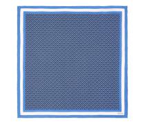 Einstecktuch aus Seidensablé mit geometrischem Muster