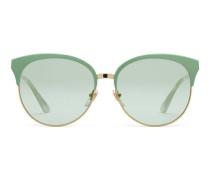 Sonnenbrille mit rundem Rahmen aus Metall und spezieller Passform