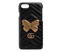 GG Marmont iPhone 7 Etui mit Nachtfalter-Niete