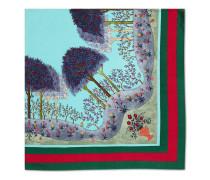 Schal aus Seide mit Wald-Print