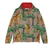 Jacke aus Nylon mit Gucci Bengal-Print