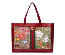 Mittelgroßer Ophidia GG Shopper mit Flora