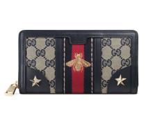 Brieftasche aus GG stoffe mit Vintage-Webstreifen