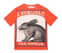 Kinder T-Shirt mit Hasen-Print