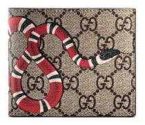 Brieftasche aus GG Supreme mit Königsnatterprint